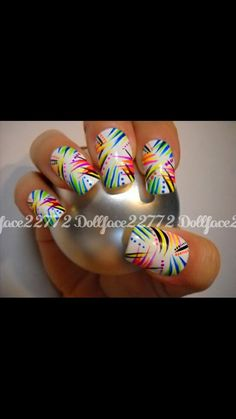 These are some funky nails but they look cool.