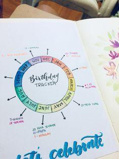 #birthdays #bulletjournal #journaling #planner