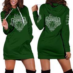 Slytherin Women's Hoodie Dress - Hoodie Dress - Slytherin / L