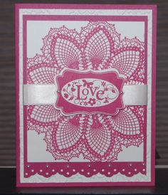 Doily card........love it!!