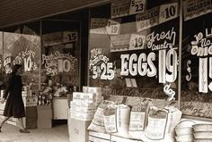 Eggs - 19 cents  New Potatoes 5lb. 25 cents  Wow ! Those were the good old days...