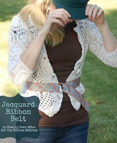Use Jacquard Ribbon for a quick, easy, cute belt.
