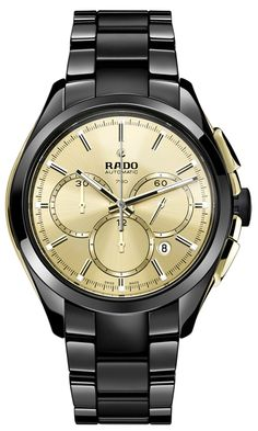 News BLACK GOLD RADO HyperChrome Automatic Chronograph Gold Limited Edition (See more at:http://watchmobile7.com/articles/rado-hyperchrome-automatic-chronograph-gold-limited-edition) (3/4) #watches #rado
