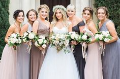 The former High School Musical star took to Instagram to share her wedding snaps. I love the variation in colour of the Bridesmaid Dresses. :)