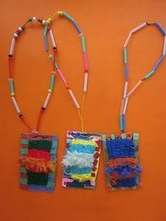 Woven Necklace Project | Wearable art #necklaceprojects