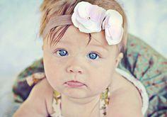 Baby Girl Flower HeadbandNewborn HeadbandPink and by neishasblue, $6.95