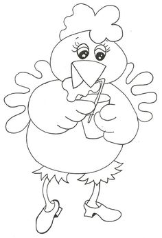 riscos para pintura em tecido de galinhas - Pesquisa Google