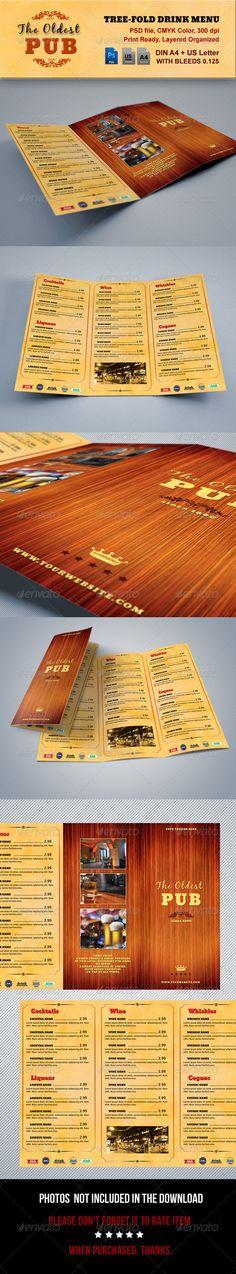 The Oldest Pub Menu Template #design #alimentationmenu Download: http://graphicriver.net/item/the-oldest-pub-menu/6660339?ref=ksioks