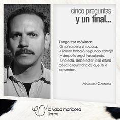 #5preguntasyunfinal: Marcelo Carnero    #libros #escritores #books #lavacamariposa
