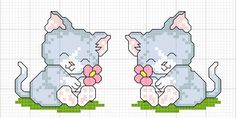 Per questa ricorrenza ecco a voi altri schemi di mici                   Per chi ama i gatti, qui trovate uno schema che vi dedico!!  angol...