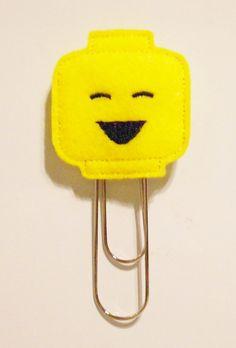 Items similar to Lego Character Felt Bookmark on Etsy Lego Character Felt Bookm. Items similar to Fox Crafts, Geek Crafts, Diy Bookmarks, Crochet Bookmarks, Felt Bookmark, Lego Club, Lego Craft, Felt Books, Felt Patterns