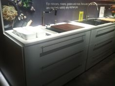 Kitchen Sink with Built-in Cutting Board - genius!