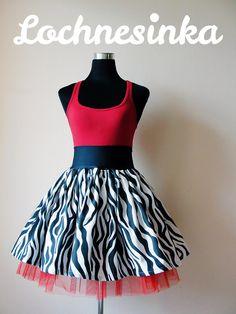 Sukýnka NESSIE LINE kolová no.10 zebra Line, Skirts, Fashion, Moda, Fishing Line, Fashion Styles, Skirt, Fashion Illustrations