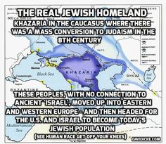 Khazars known as Jew-ish people are not the Israelites! Jew-ish people converted to Judaism in the 8th Century.