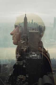 Creative Photography, Photo, Manipulation, Shoots, and Exposure image ideas & inspiration on Designspiration Double Exposure Photography, New York Photography, Portrait Photography, Creative Photography, Art Optical, Multiple Exposure, New York Art, Nyc, Lomography