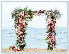 31 Wonderful Floral Wedding Arches Beach Ideas For Your Inspirations - VIs-Wed Beach Wedding Bouquets, Beach Theme Wedding Invitations, Beach Wedding Centerpieces, Wedding Flower Arrangements, Floral Wedding, Wedding Favors, Wedding Decorations, Wedding Ideas, Wedding Themes