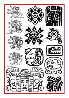 Aztec and Mayan Symbols                                                                                                                                                                                 More