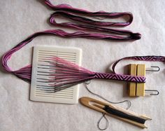 Durham Weaver: Band weaving with 7 pattern threads