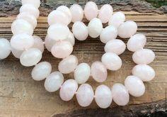 Кварц розовый 14 мм шайба огранка бусины камни для украшений. Handmade.