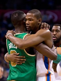 Former teammates Jeff Green and Kevin Durant