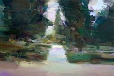 Carlos San Millan, garden, 2014, huile sur toile, 32x48cm