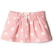 Polka-Dot Linen-Blend Skirt