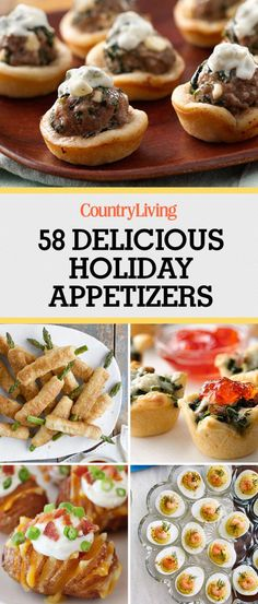 Pin these recipes!    Don't forget to bookmark these delicious holiday appetizers. For more recipes, follow @countryliving on Pinterest.