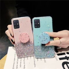(Sponsored Link) Bling Glitter Shockproof Silicone Stand Holder Cover Case For Samsung Galaxy Cute Cases, Cute Phone Cases, Iphone Phone Cases, Samsung Cases, S8 Phone, Logo Background, Aesthetic Phone Case, Diy Case, Cell Phone Covers