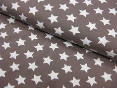 Stoff Sterne - Jersey, Sterne, auf schlamm ♥ 0,5m x 1,5m - ein Designerstück von Schwesterlich bei DaWanda