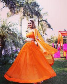 Orange Lehenga, Pink Lehenga, Bridal Lehenga, Indian Lehenga, Bollywood Lehenga, Bollywood Outfits, Lehnga Dress, Gown Dress, Wedding Lehenga Designs