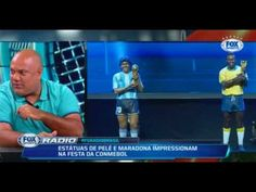 Quem foi melhor Maradona ou Messi   Conmebol impressionam com estátuas d...