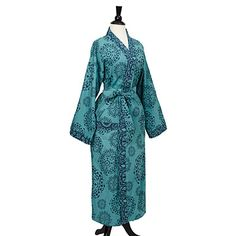 Look what I found at UncommonGoods: Teal Mandala Kimono Robe for $78 #uncommongoods