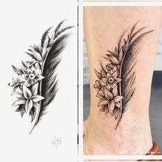 78 Likes, 9 Comments - Ashley Benedict Feather Tattoo Design, Floral Tattoo Design, Feather Tattoos, Flower Tattoos, Tattoo Designs, Dope Tattoos, Pretty Tattoos, Body Art Tattoos, Small Tattoos