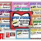 This file includes over 12 different Superhero-themed awards for student recognition!  These can be used for monthly awards, end-of-trimester, or end of year awards!  Even includes cape-shaped tags for Tootsie Pops for a super fun little treat for your students, as well as comic book style tags for student goodie bags or other treats!