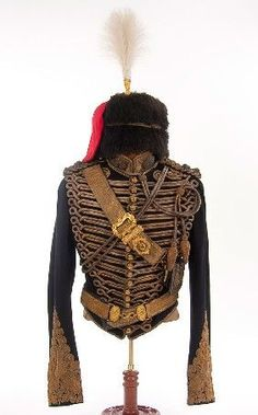 BRITISH VICTORIAN ROYAL HORSE ARTILLERY LT. COLONEL'S JACKET, Busby and accoutrement group, circa 1890.