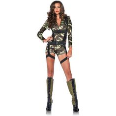 Catwoman Costume Women's Army Costumes, Sexy Army Costumes, Cheap Costumes, Sexy Halloween Costumes - STYLE NO: 85292 Costume includes zipper front spandex romper and body harness. Army Halloween Costumes, Army Girl Costumes, Military Costumes, Halloween Fancy Dress, Halloween Outfits, Cool Costumes, Adult Costumes, Costumes For Women, Halloween Shoes