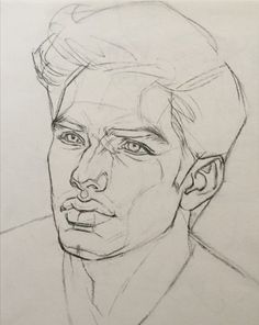 Keep A Sketchbook And Have Fun - Drawing On Demand Portrait Cartoon, Portrait Sketches, Portrait Illustration, Art Drawings Sketches, Pencil Portrait, Pencil Drawings, Face Sketch, Boy Sketch, Male Face Drawing
