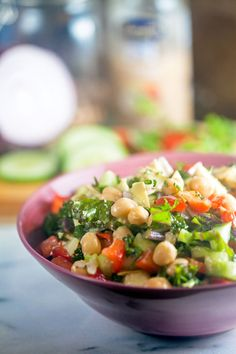 This is one of my favorite summertime salads. It gets even better in the fridge overnight and it's always popular at potlucks!