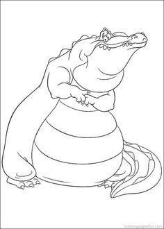 Princess And The Frog Coloring Pages 2