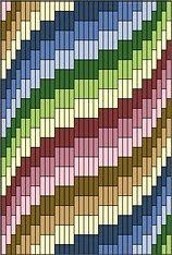 Discover thousands of images about Bargello Fantasy Needlepoint, Periwinkle variations Bargello Quilt Patterns, Bargello Needlepoint, Bargello Quilts, Needlepoint Stitches, Plastic Canvas Stitches, Plastic Canvas Crafts, Plastic Canvas Patterns, Broderie Bargello, Needlepoint Designs