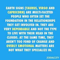 Capricorn/Earth Signs