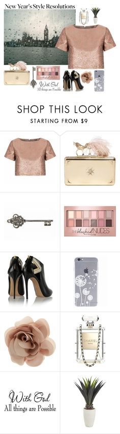 """New Year's Style Resolution"" by boobear02 ❤ liked on Polyvore featuring Glamorous, Alexander McQueen, Maybelline, Casadei, Accessorize, Chanel, Pier 1 Imports, women's clothing, women's fashion and women"