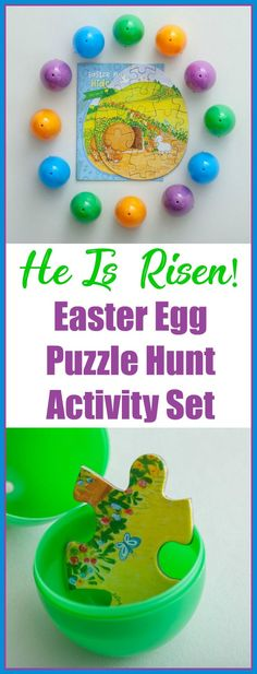 """Add true meaning to your children's Easter egg hunt and share the resurrection story with a 24-piece puzzle, a 16-page Bible story, and 12 plastic eggs! Three easy steps - (1) place two """"Resurrection Story"""" puzzle pieces inside each egg and hide them...(the Puzzle Hunt begins!); (2) once found, put the puzzle together...; (3)...at the same time, read and share the Easter Bible Story booklet! The 16 full-color pages follow the Easter Story from Palm Sunday through the Resurrection! #ad"""