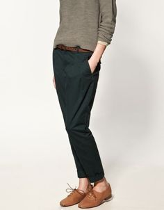 ankle pants and loafers!
