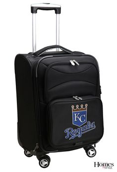 Don't show up to away games without your team spirit! This spinner rolling bag features embroidered logo and is U.S. domestic carry-on approved! $200. fanatics.com