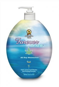 Size 22 oz Australian Gold Forever After will keep your skin moisutrized all day and extend your tan with hemp seed extract for firming and slimming.