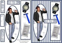 - This sheet is ideal for young males and looks quite stylish made up. All easy cuts and there is a matching insert to finish. Crafts To Do, Crafts For Kids, Image Stitching, Quick Cards, Teenage Dream, Clipart, Decoupage, Projects To Try, Card Making