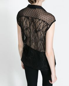 LACE BACK SHIRT - Shirts - TRF | ZARA Romania