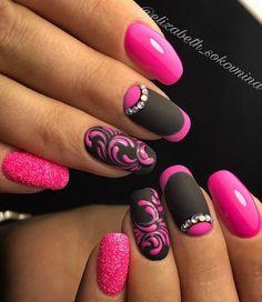 Идеи дизайна ногтей - фото,видео,уроки,маникюр! Nail Store, Latest Nail Designs, Nail Art Designs, Girls Nail Designs, Latest Nail Art, Nail Designs Spring, Nails Design, Nail Brushes, Fancy Nails