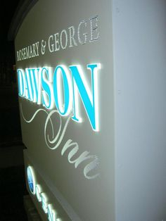 Edge-Lit Push Thru Letters on Custom Hospital Signage. Remember, Your Positive Image Equals Their Positive Experience!
